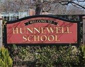 Hunnewell School Sign