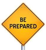 Be Prepared Sign