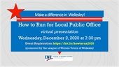 How to Run for Local Public Office