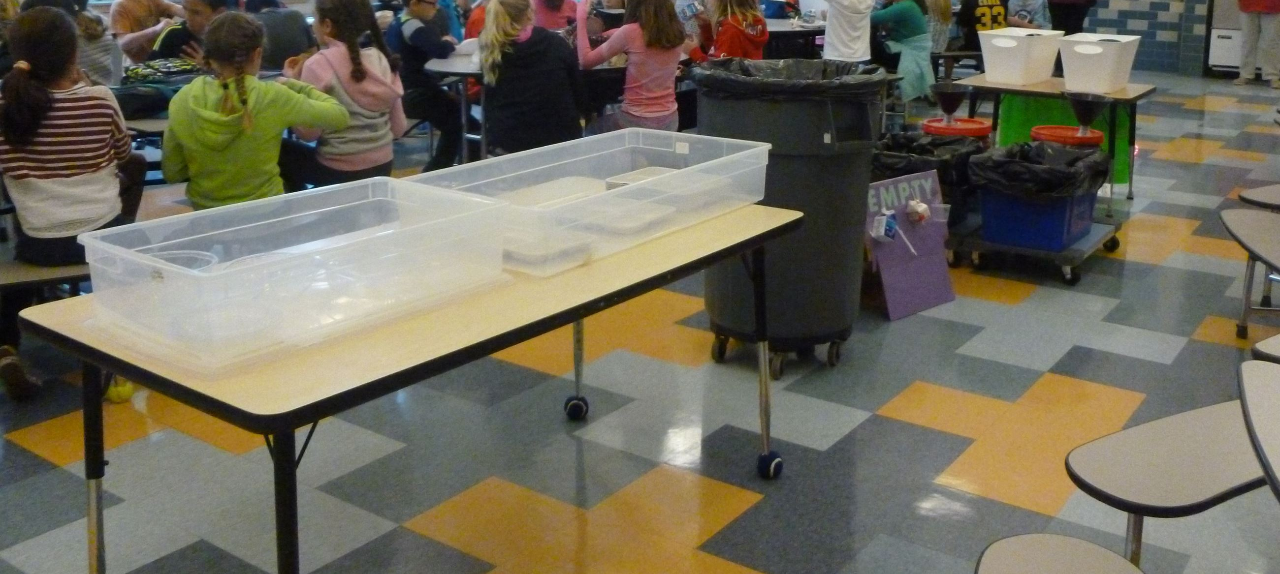 Bates Cafeteria with Recycling