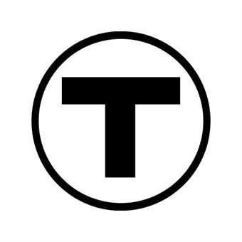 MBTA logo for T