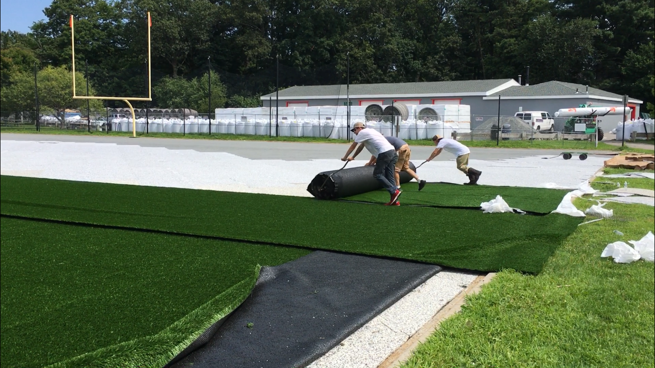 Synthetic Grass Carpet Rollout (figure 8)