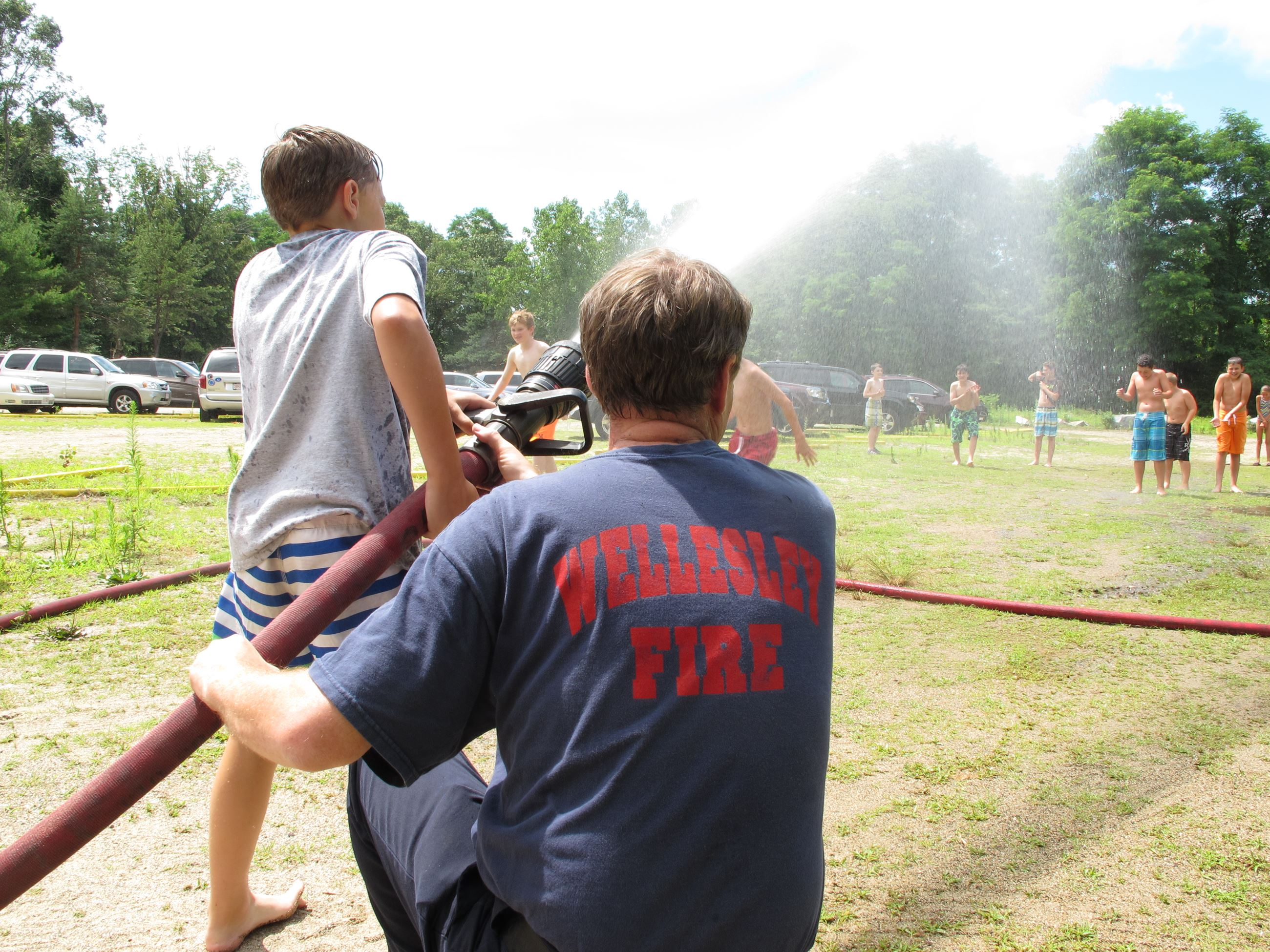 Kids With Fire Hose