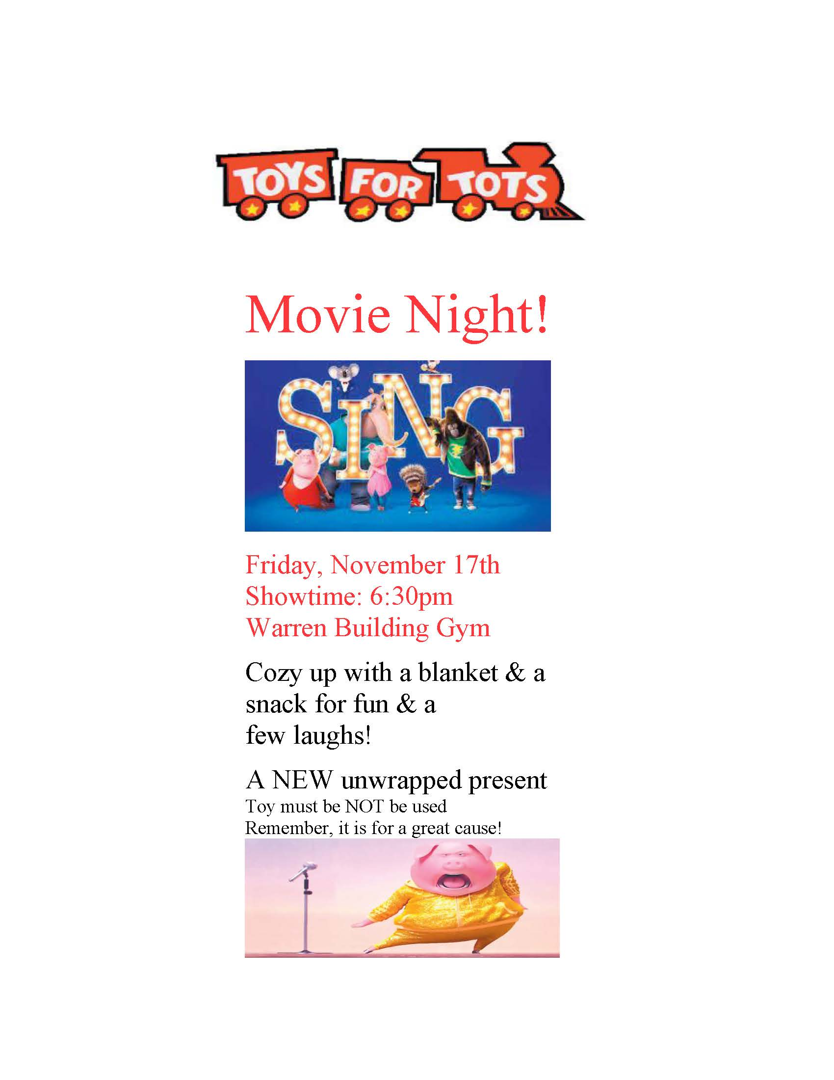 Movie Night toys for tots