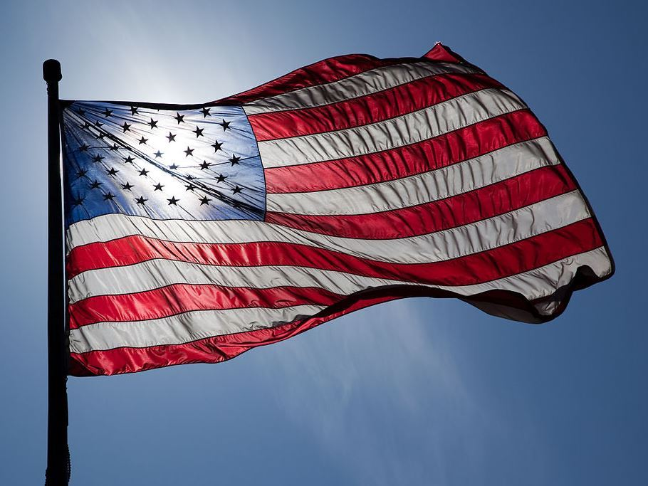 US Flag Backlit
