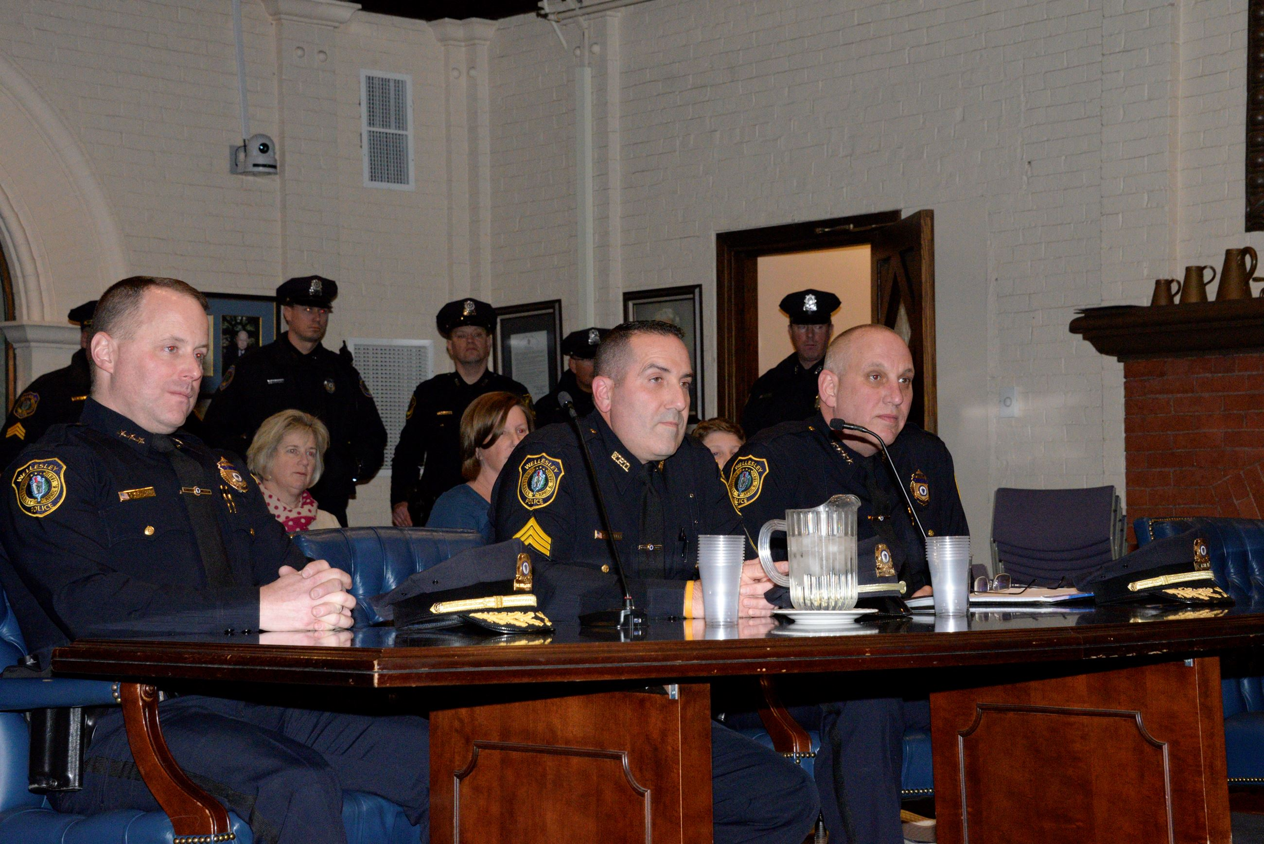 Lt. Renzella appears before the Board of Selectmen.