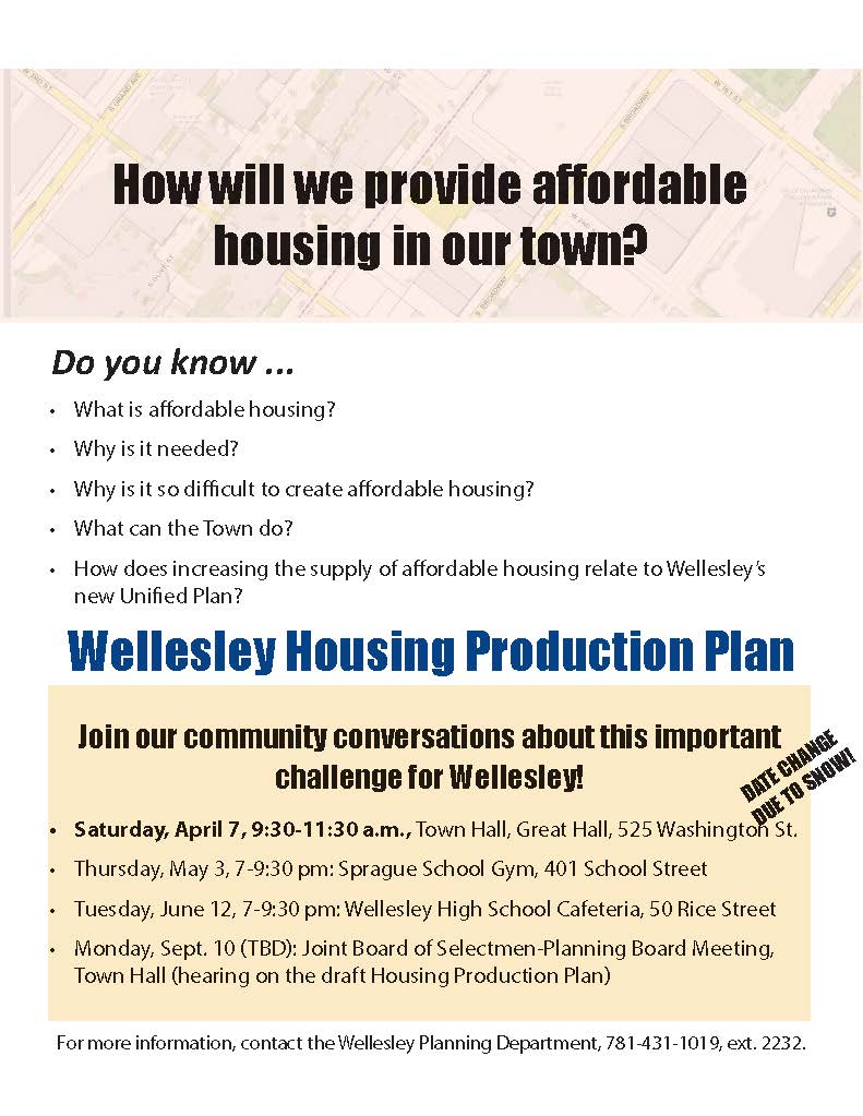 Housing Production Plan Forum Flyer
