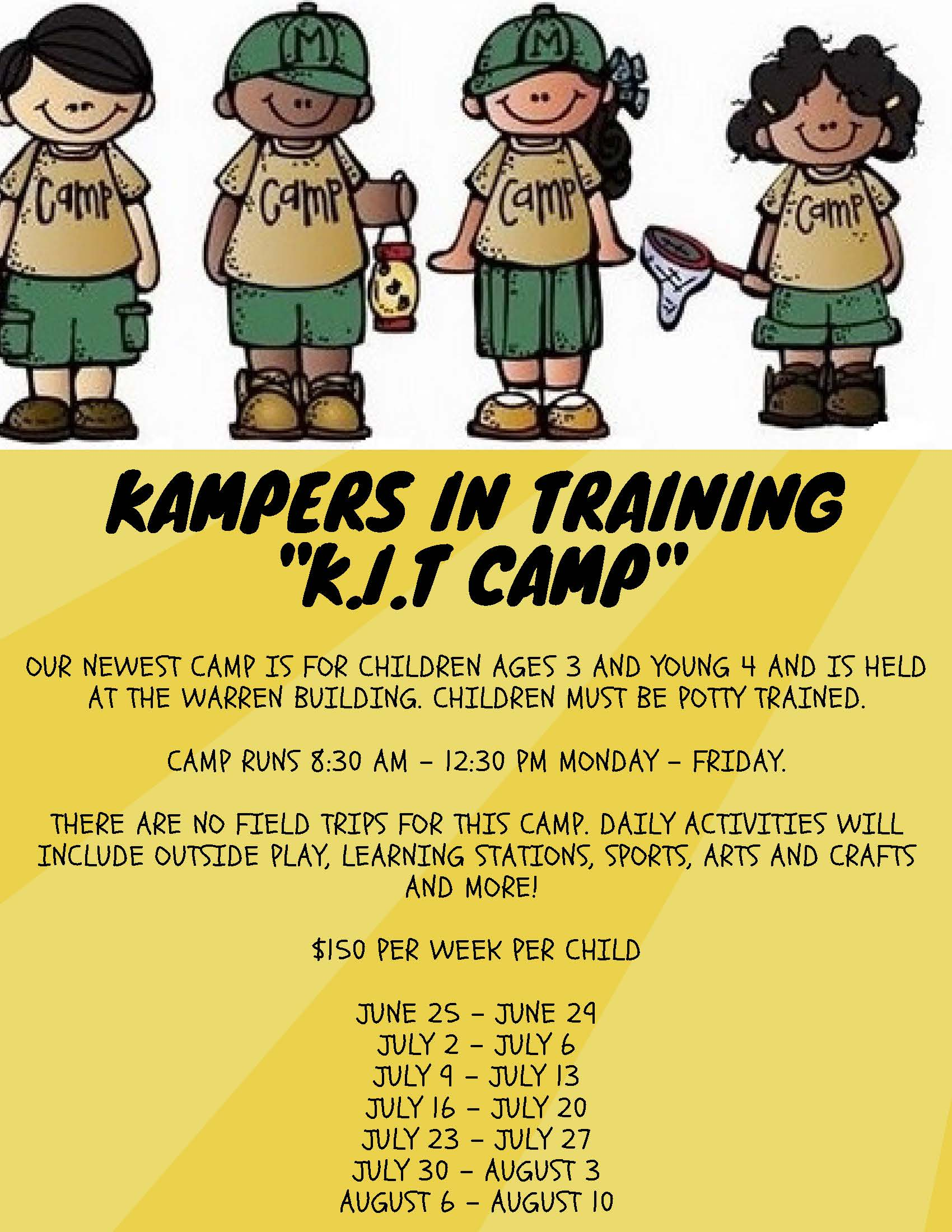 campers in training