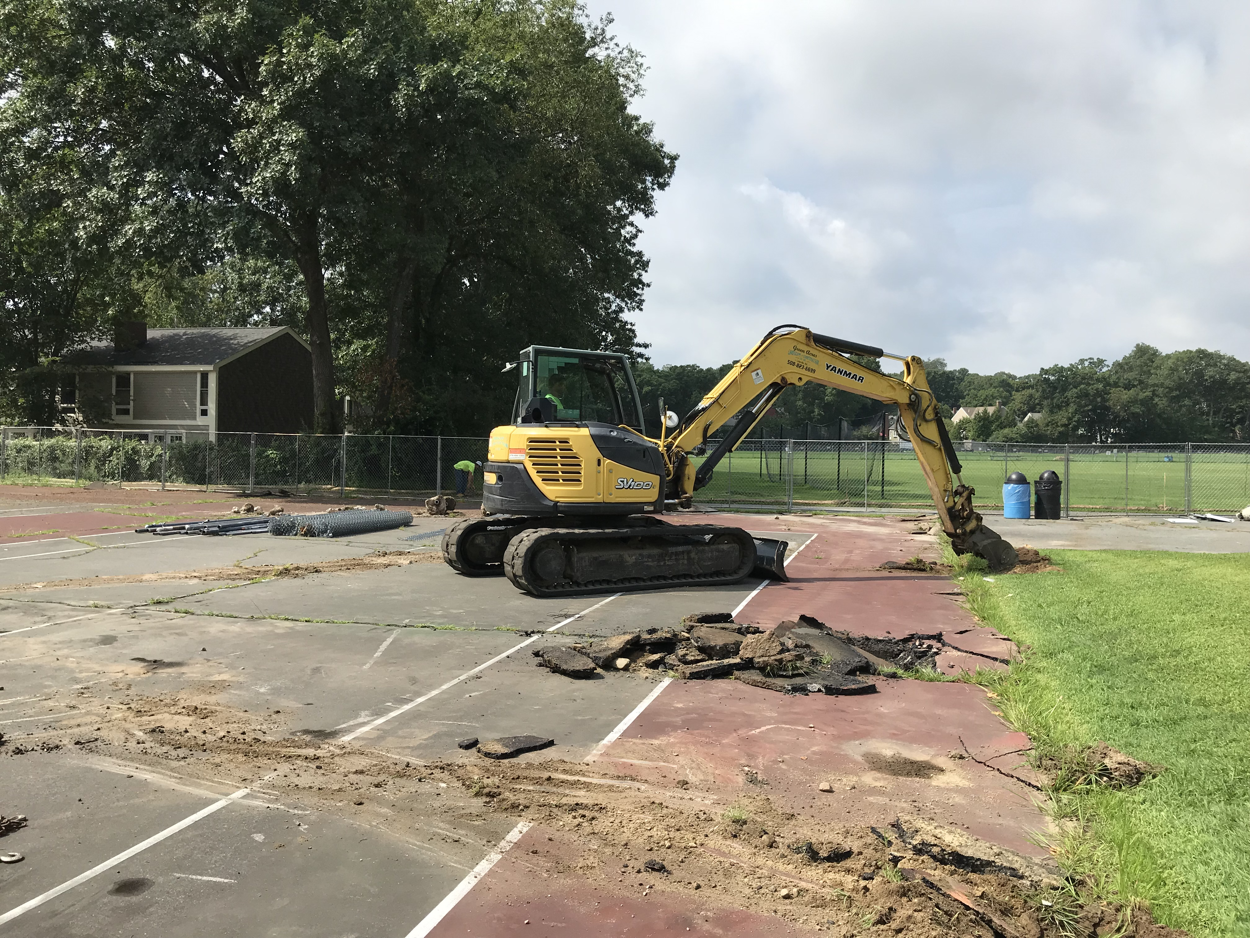 Figure 1 - Demolition existing tennis courts